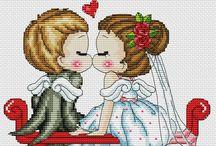 Haft Krzyżykowy - Zakochani