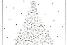 borduurpatroon kerst