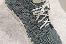 Horgolt cipők