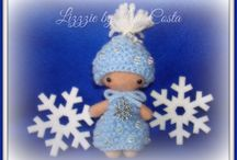 Invernille / My winter dolls dress with knitted...