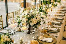 Esküvői dekoráció (arany) - Wedding decoration gold