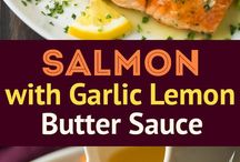 salmon with garlic lemen sauce