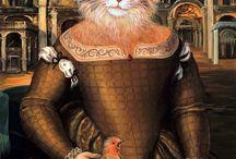 Belles chattes / des chattes en costumes d'époques ou fantaisie