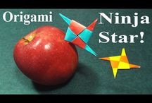Paper Ninja Stars! / Check out these awesome ninja star paper tutorials!