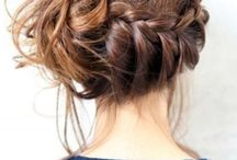 updos with a fringe