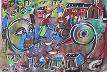 "Eli Kobeli - Artist / Eli Kobeli's focus on township life and his colourful/vibrant images earned him the title ""Chagal of soweto""."