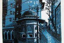 Lino prints and Woodblocks