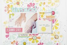 Scrapbook Werkstatt July kit layouts