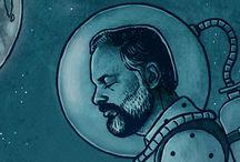 Escafandras y hombres que sueñan con la luna*