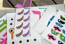 Monster Party Ideas / Monster Party, food, decorations, printables, silly, ideas, invitations, invite, games, favors, cake, costume, kids, little, diy, activities, centerpieces, snacks, halloween, backdrop, cupcake toppers wrappers