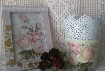 decoupage roses butterfly