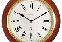 Large Wall Clock Roman Numeral Radio Controlled Wooden Glass Lens Gold Bezel