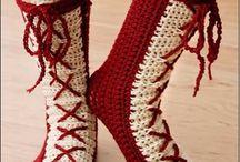 Zapatos y medias  de crochet