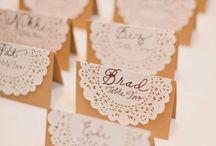 A Hochzeit Namenskarte