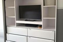 Modern Fitted TV Unit with Drawers