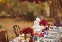 fall garden wedding