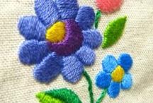 λουλούδια σε ύφασμα
