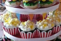 50s themed cupcakes