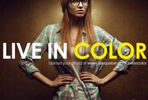 live in color / Live your life to the fullest and be your best self. Show your colors and take the world by storm