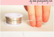 Metallilangasta taivutetut sormukset