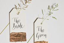 Modern Calligraphy Place Cards / Finding inspiring ways to lead guests to their seat at a table or event.  Whether it's a rustic beach wedding, a glamorous black tie event, I'm searching for great ideas and handmade creativity.