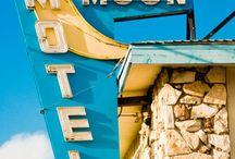 Signs / vintage and modern signage