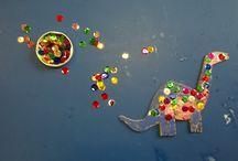 Warsztat dziecięcy / Oto prace wykonane przez małe rączki.