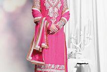 Heena khan - Stright cut salwar suit collection / Heena khan - Pure georgette designer stright cut salwar suit collection