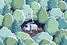 Forest, nature colour palette