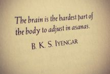 Yoga / Quotes from the Iyengars, ancient texts, asanas, inspiration!