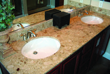 For the Bathroom / Beautiful showers, bathroom counters, baths, and even back-splashes made using our very own quartz, marble, and granite.