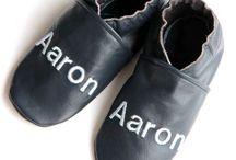 chaussonsencuir…Chaussons en cuir personnalisés / chaussons en cuir personnalisés, chaussons en cuir naissance, chaussons souples en cuir, chaussons bébé cuir