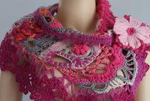 crochet scarf, shawl