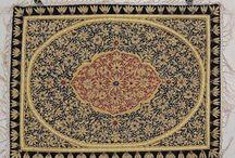 Jewel Wall Hangings / Kashmir Zardozi Embroidered and semi-precious stone work wall hangings and wall rugs.