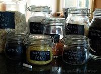Color My World ~ Chalk it Up! / Use chalk on anything! Use chalkboard paint, contact paper, even material!  Also, how to make your own chalkboard paint. / by Diane Cabral