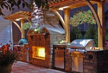 Outdoor grilling area ideas / by Leila Hale