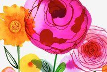 цветы рисовать своими руками