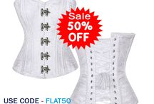 Corset Flat 50% OFF / Corsets Queen Offer Flat 50% Off in all Corset Collection, Corset in half price, shipping Free Over order $99 USD. More Info Visit:- http://www.corsetsquen.com
