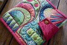 mes livres textiles / mixed media  tissus