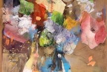"Saatchi Art Artist: Susana Llobet; Paper 2011 Collage ""Spring flowers"""