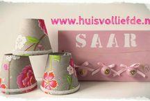 Huis vol liefde ♥ Kinderkamer accessoires !