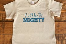 Baby from Little & Mighty / Adventure inspired apparel for babies (3M - 24M).  Hand drawn designs and homemade touches create a distinctive look to this colorful children's clothing.  Made in the USA.