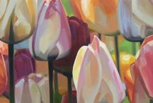 Art tulips, Callas