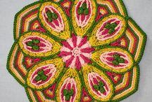 Crochet Mandalas, Medallions / #Crafts #crochet #mandalas #medallions, #in-the-round / by Motley Crafter