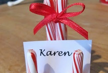 Christmas Candy stick name card
