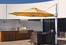 Cantilever Umbrellas / Cantilever umbrellas are perfect for pools, covering tables and anywhere where flexible, rotating shade is required