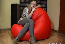 Wygodny fotel / Piękny, a do tego bardzo wygodny fotel w kształcie wielkiego serca - FUNNY Serce Maxi.