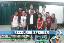 Resource Speaker / Philippine's well known Resource Speaker