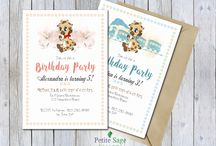 Party & anniversaries invitations