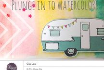 Clique into Summer 2014 / Layouts, spreads, and elements using the Clique Kits - Clique Into Summer kit 2014